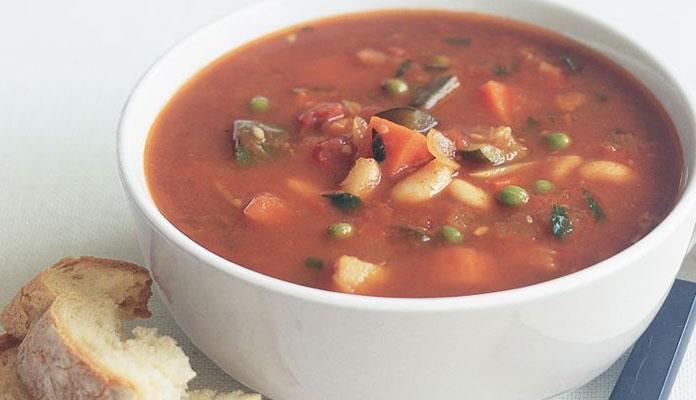 سوپ سیبزمینی و لوبیا
