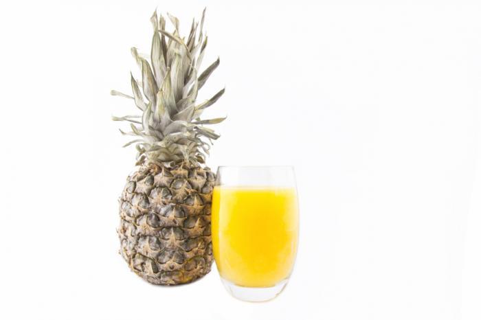 ارزش غذایی آناناس pineapple-juice