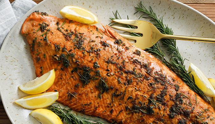 سبزیجات برای پخت ماهی